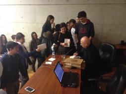 Sezgin Kaymaz TED Ankara Koleji öğrencileriyle buluştu.
